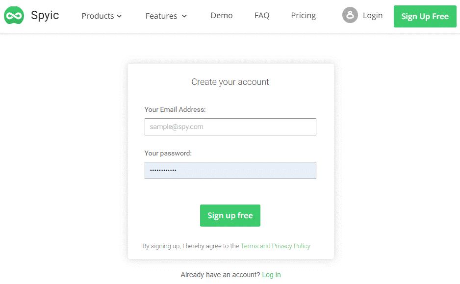 spyic register